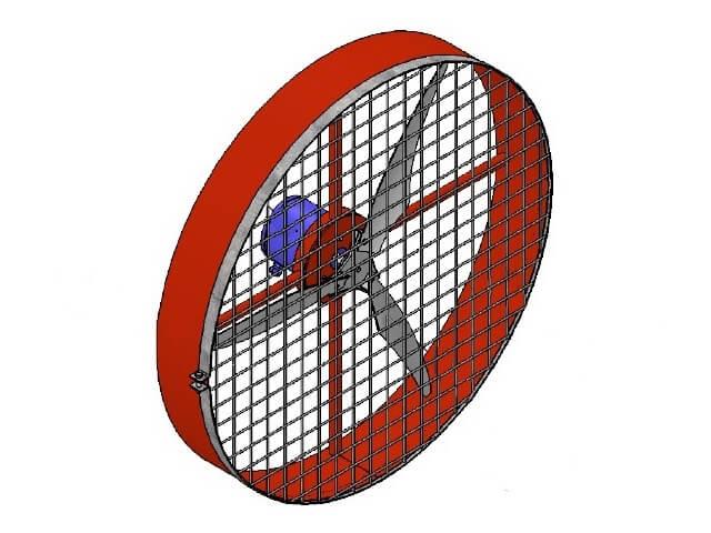 Ventilador Industrial Aviário Grande 100cm Alta Potência