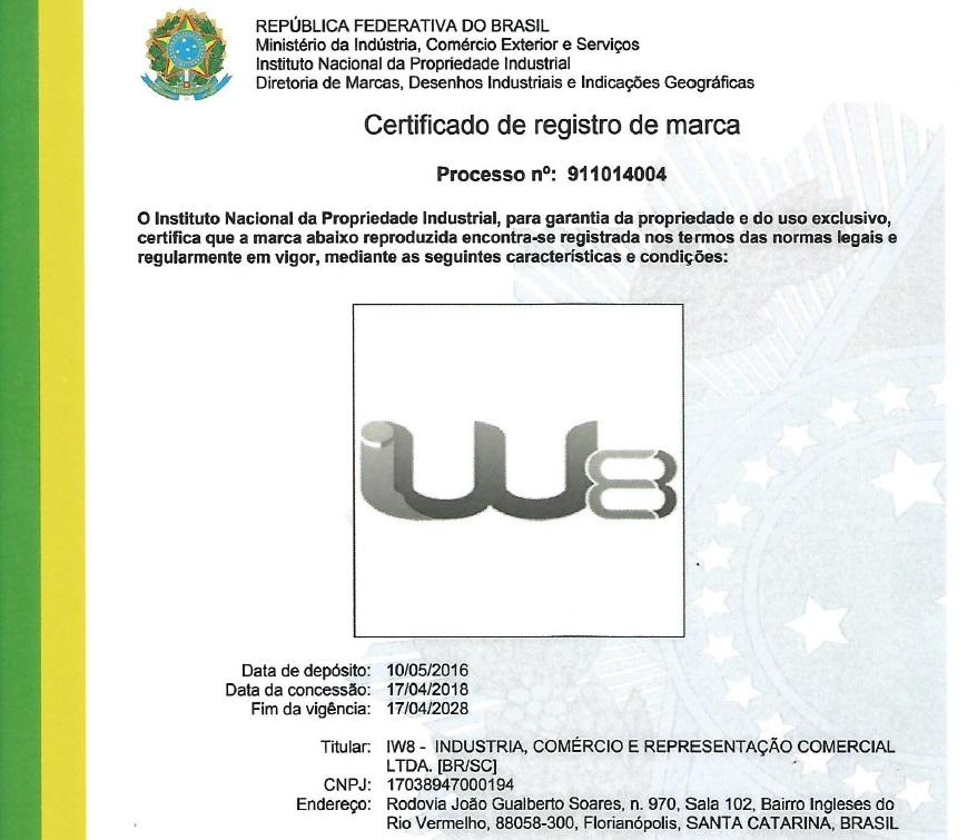 Marca Registrada Ventilador Industrial IW8
